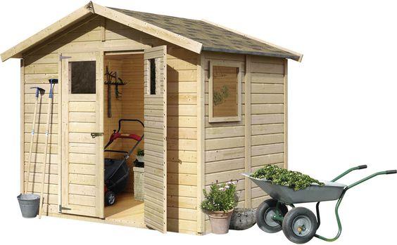Gartenhaus 14 mm Geräteschuppen BALIN 1 natur 2,45 x 1,8 m Gerätehaus Holz