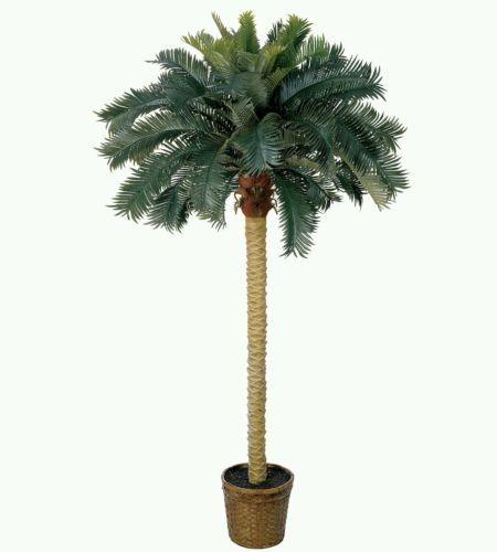 6' Sago Palm Silk Tree fake faux tropical trees home decor patio in Home & Garden | eBay