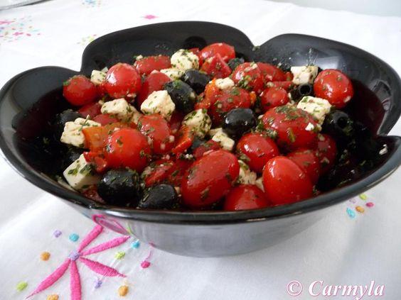 ensalada roja y negra