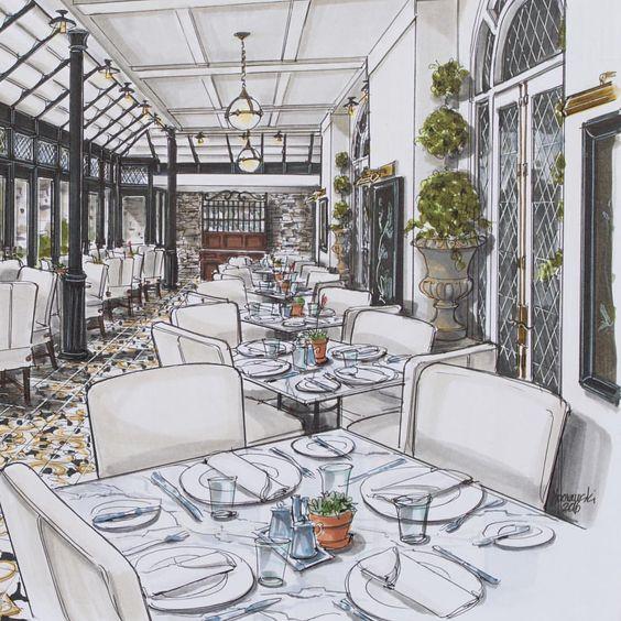 Perspective D Interieur 1 Point De Fuite Cuisine : Consulta esta foto de instagram joanborawskijoa