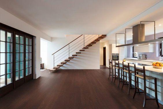 dunkler boden im trend parkett eiche nussbraun ge lt von. Black Bedroom Furniture Sets. Home Design Ideas