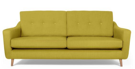 Redford 3-Sitzer-Sofa in Zitronengrün | made.com