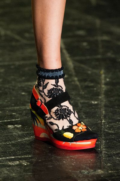 Sock and Shoes...Anna Sui at New York Spring 2016 (Details)