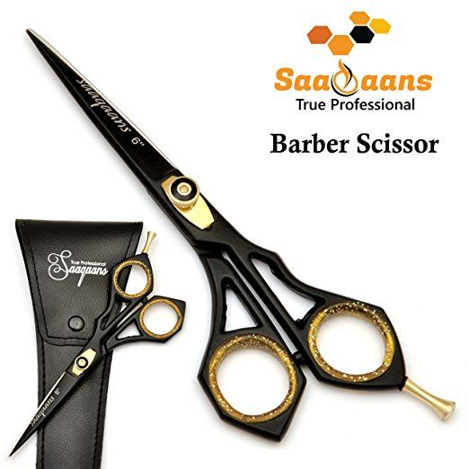 Saaqaans Sqr 01 Professional Hairdressing Barber Scissor Stainless Steel Sharp Razor Edge 6 Inches Hairdressing Scissors Trimming Your Beard Barber Scissors