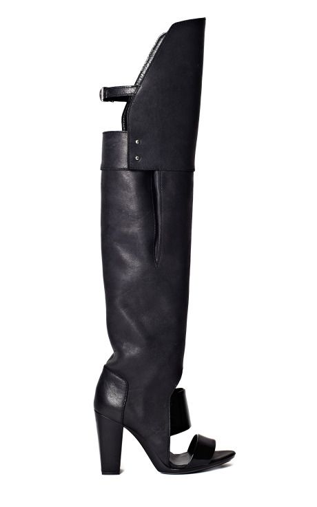 Phillip Lim Black Ora Over The Knee Boot Sandal: Boots Black, Shoes Boots, Boots Handbags, Black Shoes, Shoe Boots, Afro Glam Boots Sneakers
