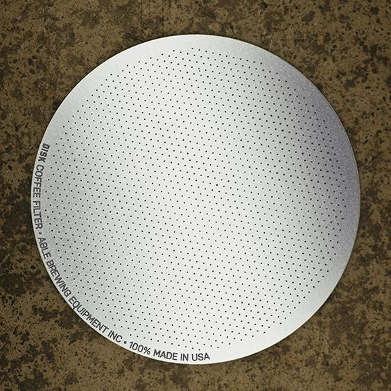 The DISK Coffee Filter is a reusable filter designed to be used with the AeroPress® Coffee Maker. $12.50