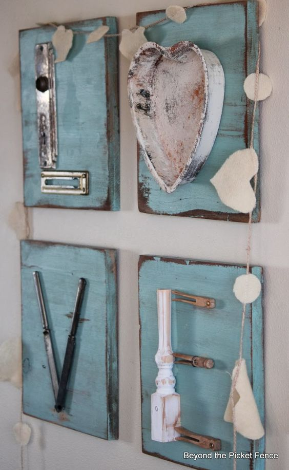 Love letters repurposed junk letters http bec4 Home decorating ideas using junk