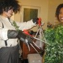 Great Homemade Edward Scissorhands and the Bush Couples Costume