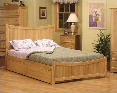 how to build a platform bed from a waterbed frame