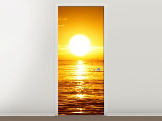 Tür #Tapete Traumhafter Sonnenuntergang