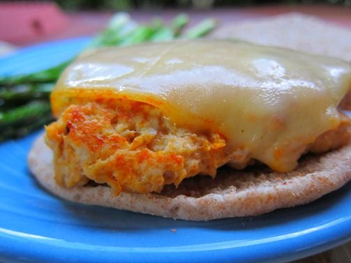 Buffalo Chicken Burgers - I have a hard time finding ground chicken, so I may need to substitute turkey. And add blue cheese.