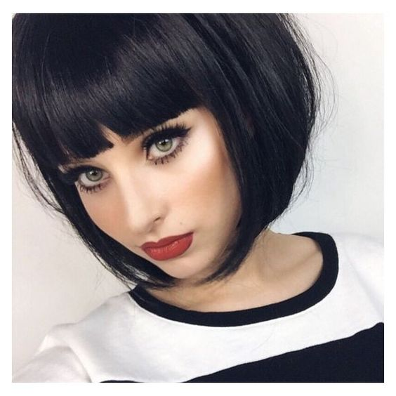 corte de cabelo curto 2019 com franja