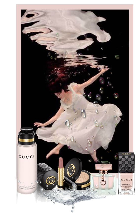 """""""Gorgeous with Gucci"""" by linolygreen ❤ liked on Polyvore featuring beauté, Gucci, Beauty et contestentry"""