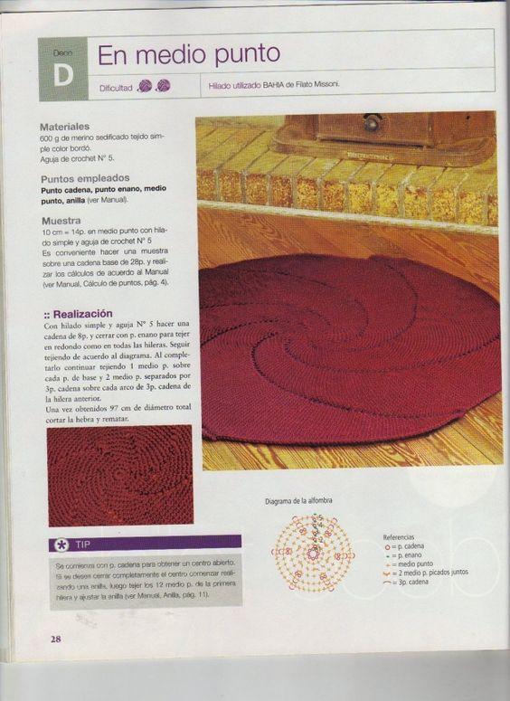 TRICO y CROCHET-madona-mía: Alfombra/ tapetes de crochet
