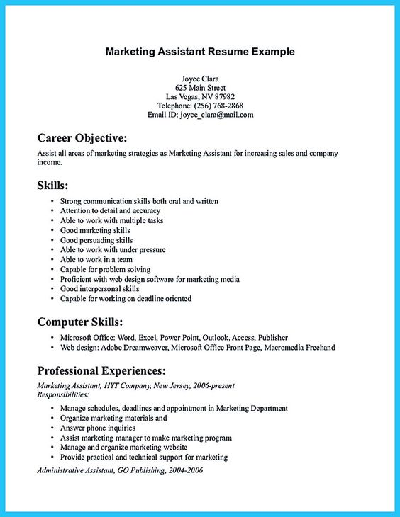 awesome Writing Your Assistant Resume Carefully, Check more at