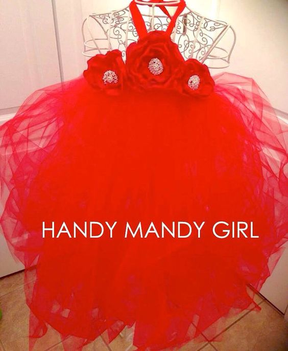 Lady in red gorgeous Christmas outfit flower girl tutu dress on Etsy, $70.00