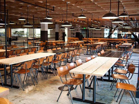 Like the lighting & wood. Facebook's Cafeteria, By The Masters Of Rustic Chic   Co.Design   business + design