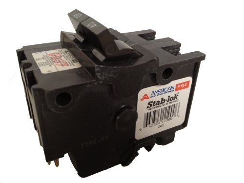 American Federal Pacific Circuit Breaker 2 Pole 40 Amp Thick Series Circuit Breakers Electrical Shop