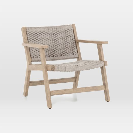 Teak Wood Rope Outdoor Chair In 2020 Outdoor Chairs Used Outdoor Furniture Lounge Chair Outdoor