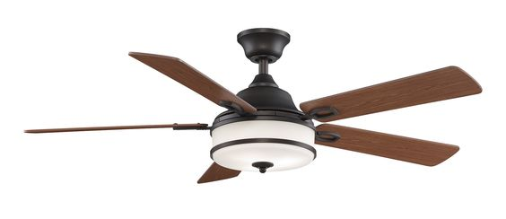 Features:  -3 Forward and reverse speeds.  -TR24WH Remote included.  -Style: Contemporary.  Motor Finish: -Dark bronze.  Blade Finish: -Brown.  Hardware Finish: -Dark bronze. Dimensions:  Fan Body Hei