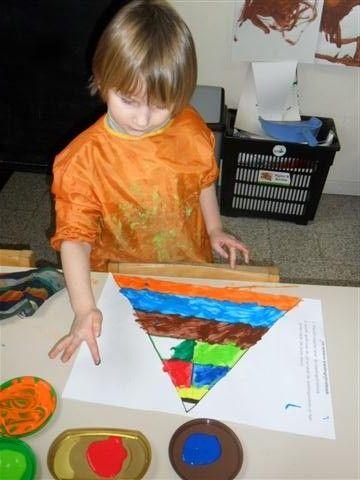 Thema: Voeding De piramide eerst schilderen, daarna vullen
