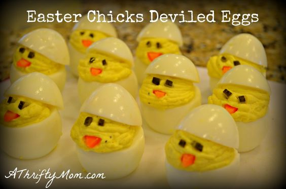 Easter Chicks Deviled Eggs DIY recipe7
