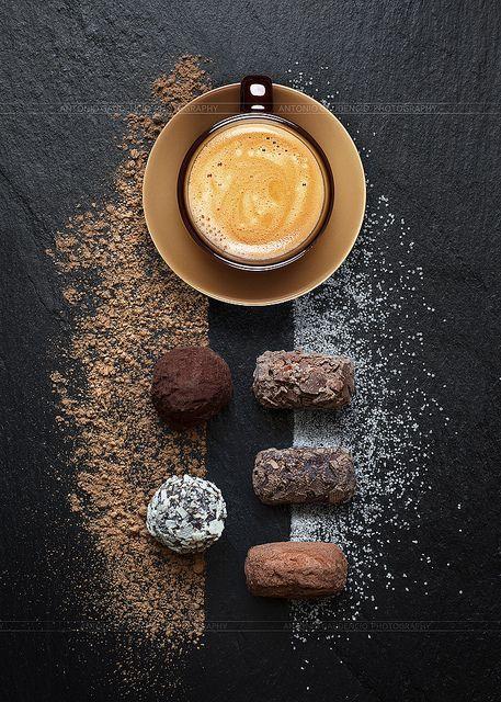 truffes au chocolat: