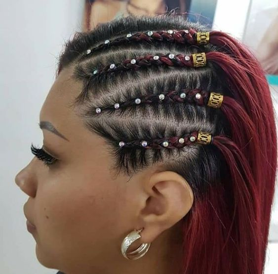 The Semi Cornrows Hairstyles for black females