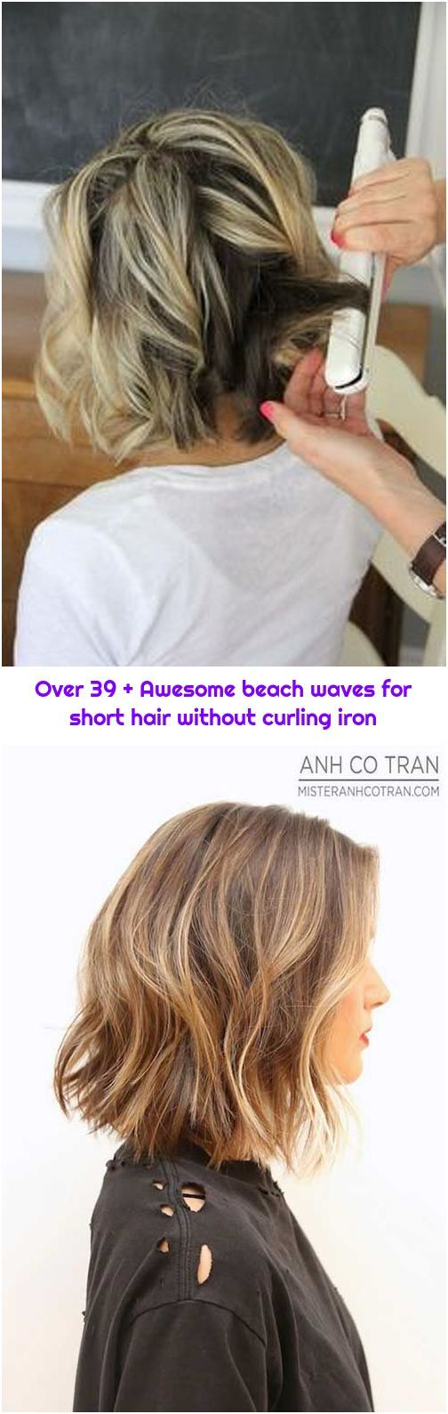 Over 39 Awesome Beach Waves For Short Hair Without Curling Iron Beach Waves For Short Hair Short Hair Waves Pretty Hairstyles