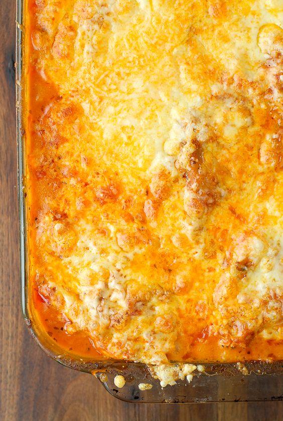 Cheesy Buffalo Chicken Lasagna - BoulderLocavore.com