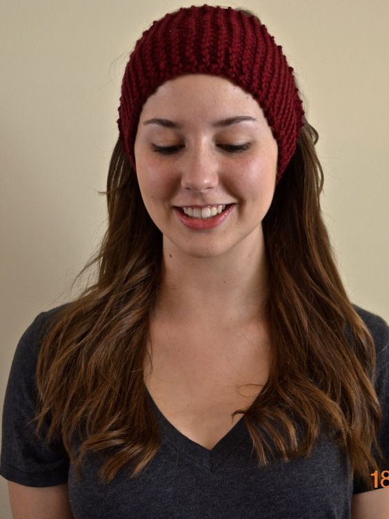 Garnet Knit Earwarmer Headband by GardnerAndMe on Etsy, $12.00 (also in Mint, Yellow, White, and others)
