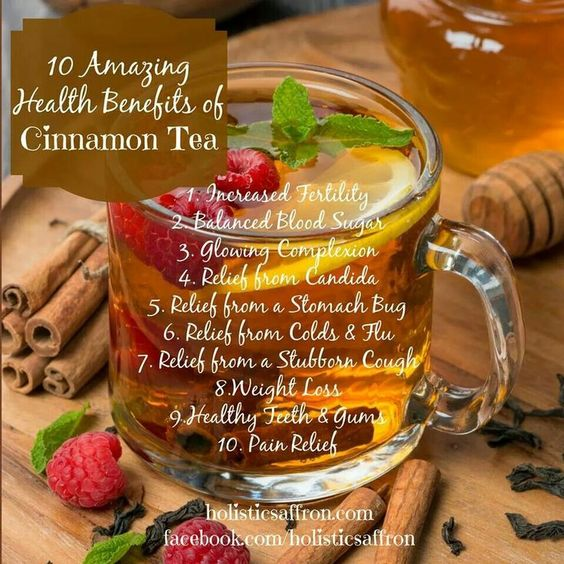 10 Amazing Health Benefits of Cinnamon Tea- Infographic