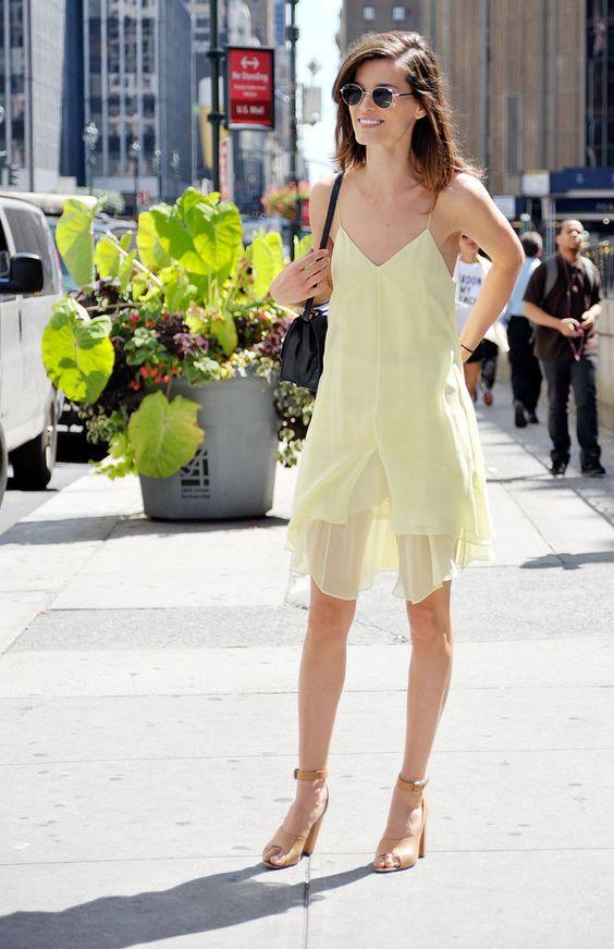 So easy breezy: Hanneli dons a slip dress