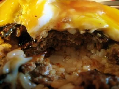 Loco Moco: Rice, hamburger patty, gravy, fried egg. Hawaii, I can't wait to visit you and eat this specialty, but in the meantime I'm going to have to make it myself.