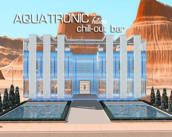 AQUATRONIC Chill-out bar – community Lot by Melissa - Sims 3 Downloads CC Caboodle