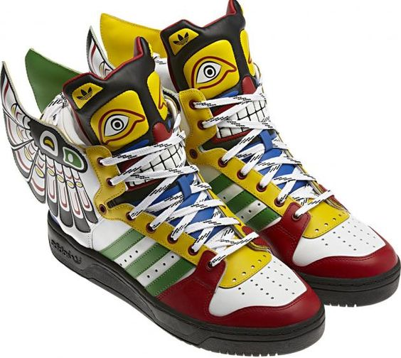#Adidas JS Totem Leather Eagle Wing Shoes by #JeremyScott. Inspired by  #NativeAmerican motif | #sneakers | Shoes | Pinterest | Wing shoes, Totems  and Eagle