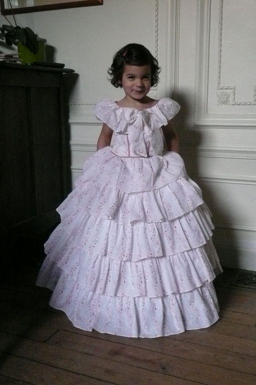 Scarlett ohara white dress costume robes