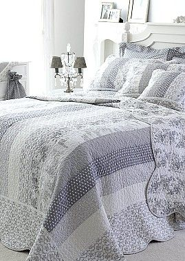 Gray quilt idea.....so pretty, much more so than I would have thought.
