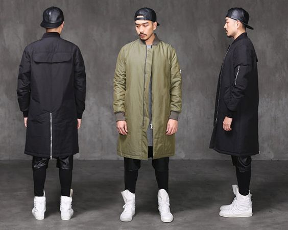 VANDALS MA1 Extended Back Zipped Long Bomber Jacket by fabrixquare ...