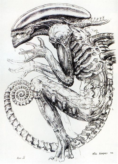 Gallery For gt Xenomorph Concept Art Giger