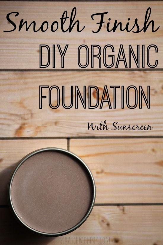 Smooth Finish DIY Organic Foundation With Sunscreen- Mandelöl, SheaButter, Kakaobutter, Bienenwachs, Vit.E, ZinkOxid, Kakaopulver,Zimt