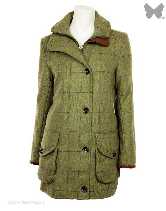 Beaver of Bolton Ladies' Cairngorm Tweed Field Jacket - Tan
