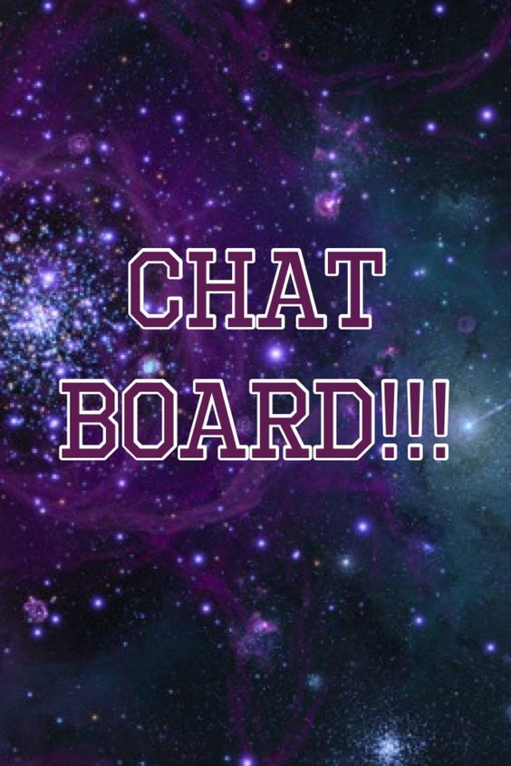 Hey! I made a chat board and I want a lot of people to join!!! I don't care what you post, just anything! Just ask and I'll totally invite you!!! Thanks!!!<3