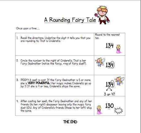 Here's a fairy tale for a different approach to teaching students how to round numbers.