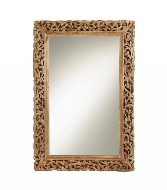 word carved mirror