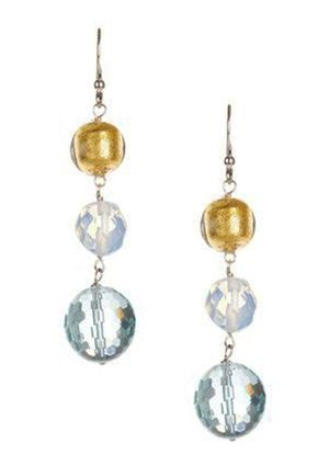 On ideel: SAVVY CIE Amazonite with Faceted Crystal Earrings