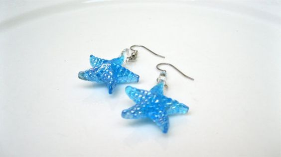 Nature Inspired Earrings Beach Style Preppy by MonasCreationsFL, $12.00