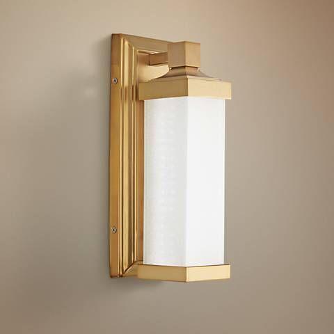 Kella 13 High Liberty Gold Led Wall Sconce 47t05 Lamps Plus In 2020 Led Wall Sconce Wall Sconces Sconces