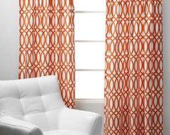 Geo Panels - Sunset Orange  curtains