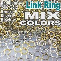 Mélanger les Couleurs 3 4 5 6 7 8 9 10 12mm Open Jump Bague fendue Lien Argent Or Rhodium Noir Bronze pour DIY Résultats de Bijoux…